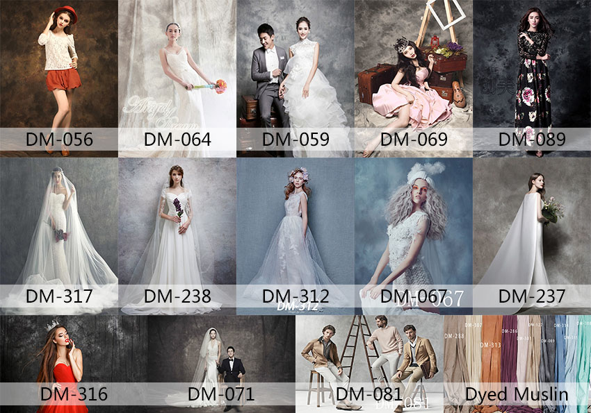 Pro Dyed Muslin Backdrops for Photo Studio Old Master Painting Vintage Photography Background Customized Wedding Backdrops