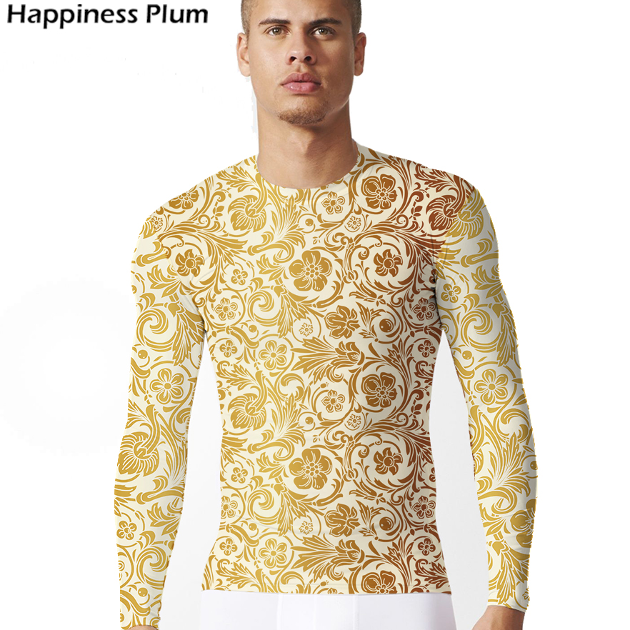 Luxury t shirt mens gold shirt brand clothing 3d print for Luxury t shirt printing