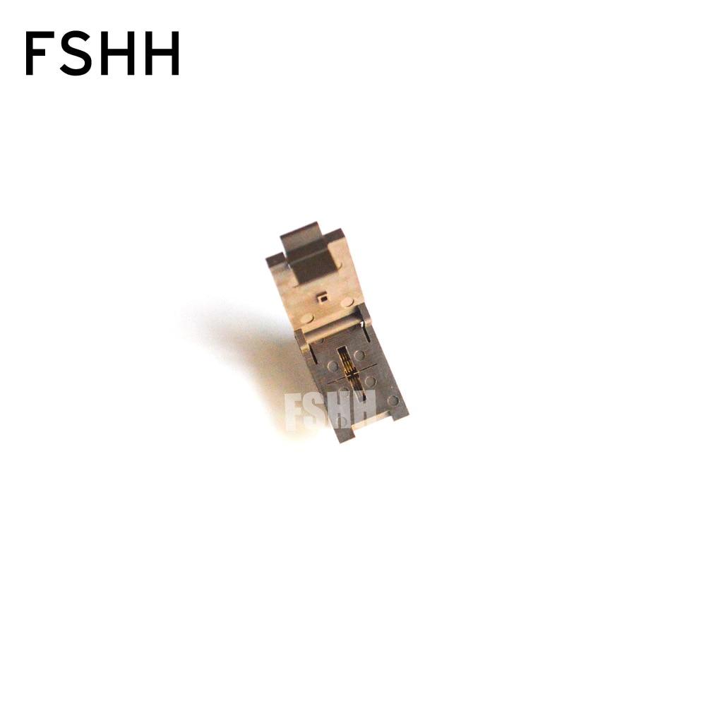 FSHH WSON8 QFN8 MLF8 DFN8 Ic Test Socket Pitch=0.5mm Size=2mmx2mm