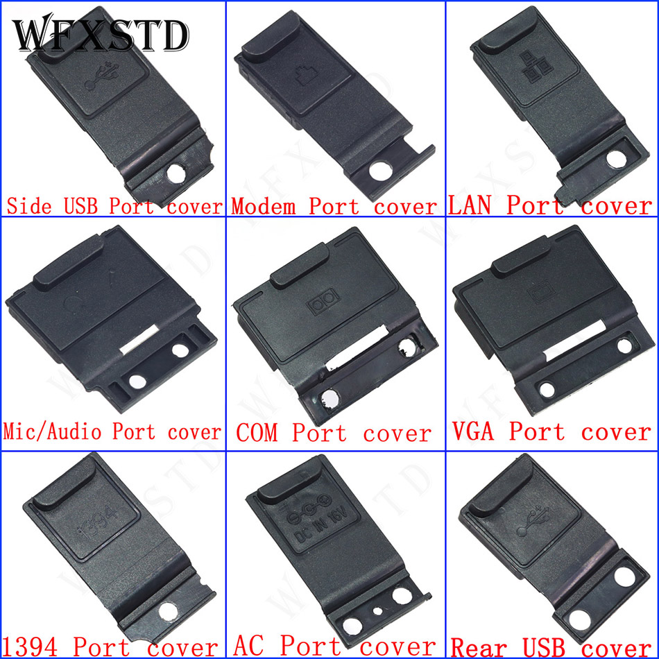 New 9Pcs Jack Cover For Panasonic Toughbook CF-19 CF19 CF 19 AC Audio DC-IN USB COM LAN Modem Mic VGA 1394 Port cover
