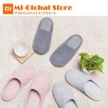 Новое поступление Xiaomi mijia Домашние хлопковые тапочки для осень-зима природные антибактериальные Запах стойкий anti-скользнул Обувь с подошвой из термопластика