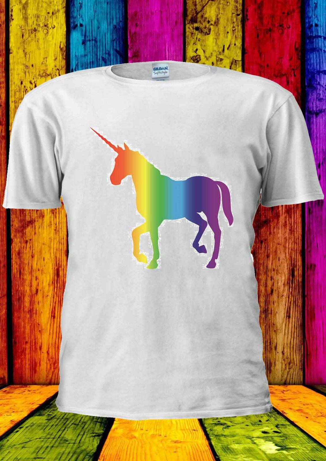 UNICORN Colorful Colourful Rainbow T-shirt Vest Top Men Women Unisex 1965
