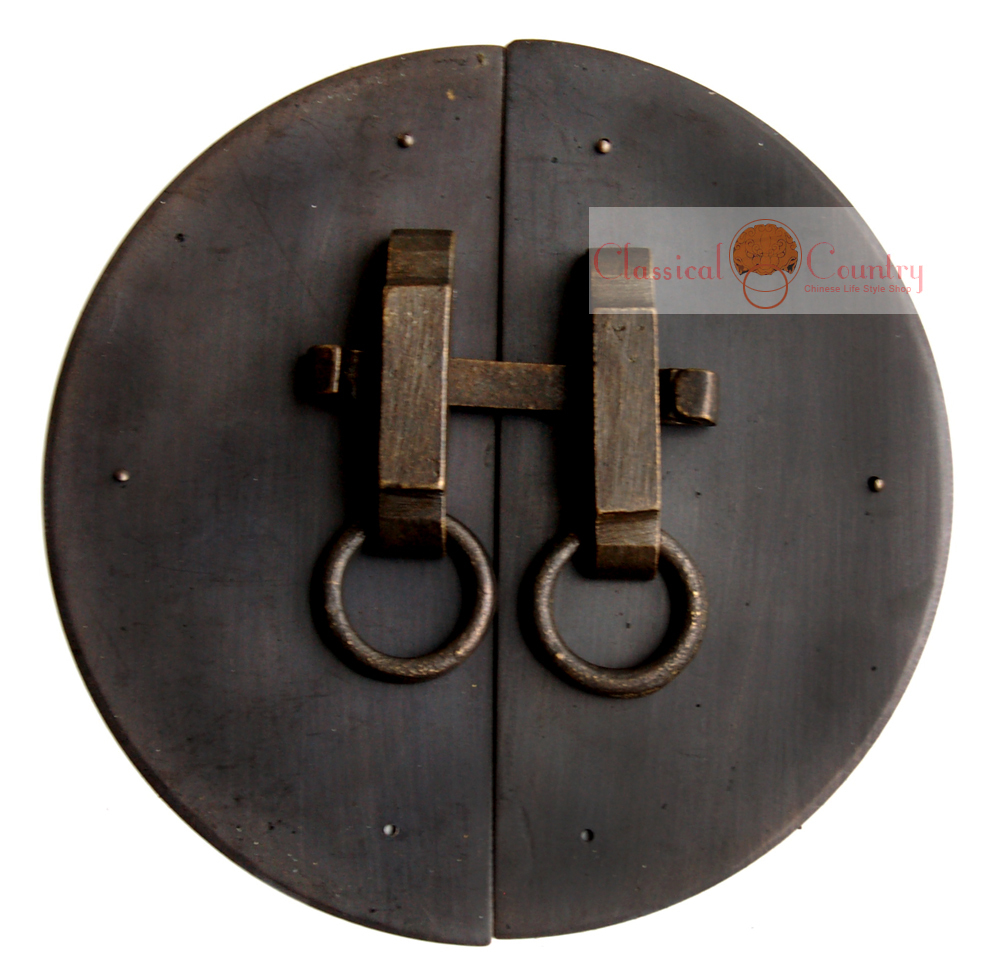 Chinese Furniture Brass Hardware Door Latch Cabinet Face