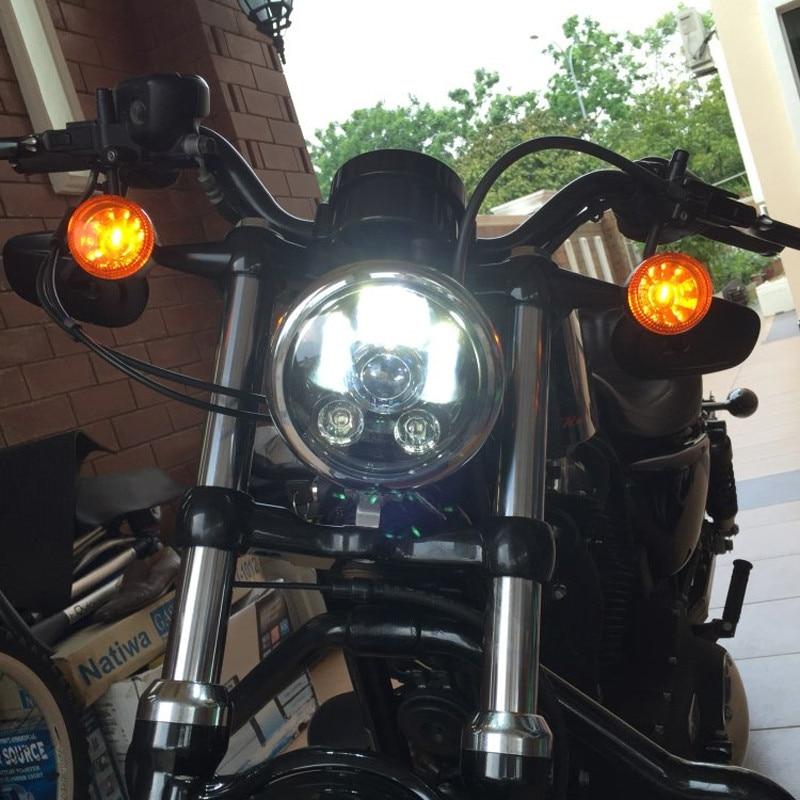 ФОТО Moto Accessories Original Motorcycle Headlight 5.75 Inch 12V Head Light Motorcycle 5.6 5-3/4