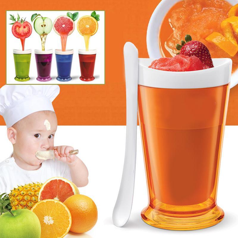nuevas frutas taza de jugo de frutas crema de hielo granizado de arena y fangoso shake