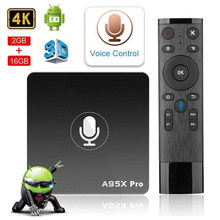 Google Smart TV Box IPTV A95X Pro 2G 16G Android 7.1 Điều Khiển Giọng Nói 2.4G WIFI- top Box PK Mi Box 4K HD 3D TV Android Box(China)