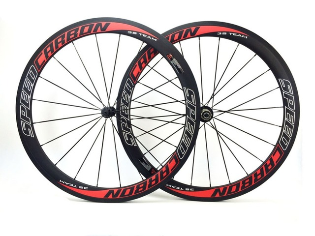 Cheap Speedcarbon 50mm carbon clincher wheelset 700c road wheelset cheap carbon wheels carbon fiber bike wheels