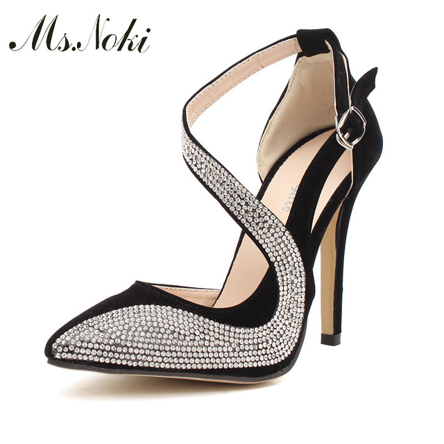 Ms. Noki spring Golden women pumps shallow spring summer casual shallow thin heels shoes bling ladies Slide girl fashion
