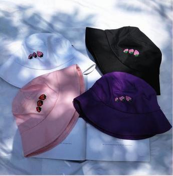 9da7575a38b Nuevo bordado fresa sombrero del cubo - a.jonzee.me