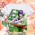 Escuela secundaria OF THE DEAD camiseta Anime Busujima Saeko Cosplay camiseta moda hombre mujer transpirabilidad remata camisetas
