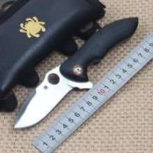 58HRC High Hardness Handle Material G10 Blade 9CR18MOV Wave Beads Bearing Folding Knife Outdoor Camping Hunting Survival Knives
