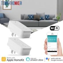 Timethinker WS2 Wi Fi умная розетка 2 шт. мощность Plug AU США ЕС Великобритания адаптер работы для Apple Homekit Siri ALexa Google приложение Home