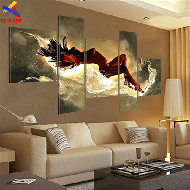 Nude Sexy Girl Canvas Painting Art Real Handmade Modern Abstract Oil Painting On Canvas Wall Art ,  Bedroom Decoration JYJHS008
