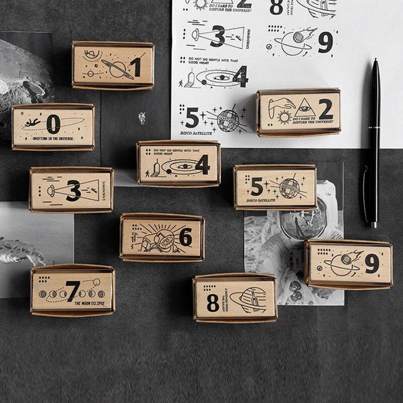 Vintage Mysteries universe wood stamp DIY craft wooden rubber stamps for scrapbooking stationery standard