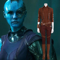 MANLUYUNXIAO Avengers Endgame Marvel Nebula Full Set Outfit Cosplay Costume Halloween anime women adult christmas outfit women