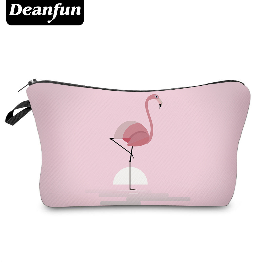 Deanfun Pink Cosmetic Bags 3D Printing Flamingo Cute Necessaries For Women Toiletry  Storage  51070