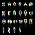 Nuevo 5 unids Formado Oval Plana AB Joyería del Diamante Brillante Del Rhinestone Decoraciones Del Arte Del Clavo de DIY Belleza de Uñas