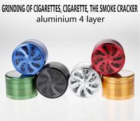 1 adet çiçek şeklini duman dedektörleri için öğütücü kırıcı sigara boru accessary olarak serin DEĞIRMENI tütün herb kesmek için somke