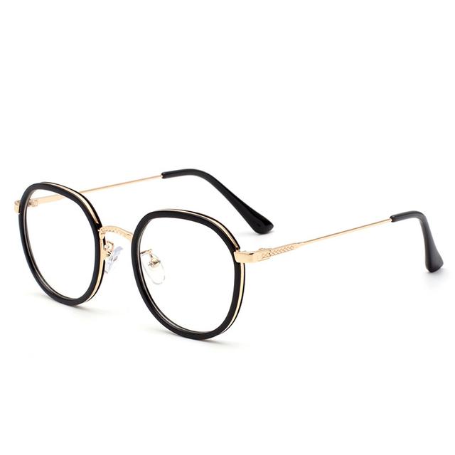 Armações de Óculos de Armação Óptica transparente Com Lente Clara Mulheres Rodada gd2201 Cheio-Rim Para Óculos de Miopia