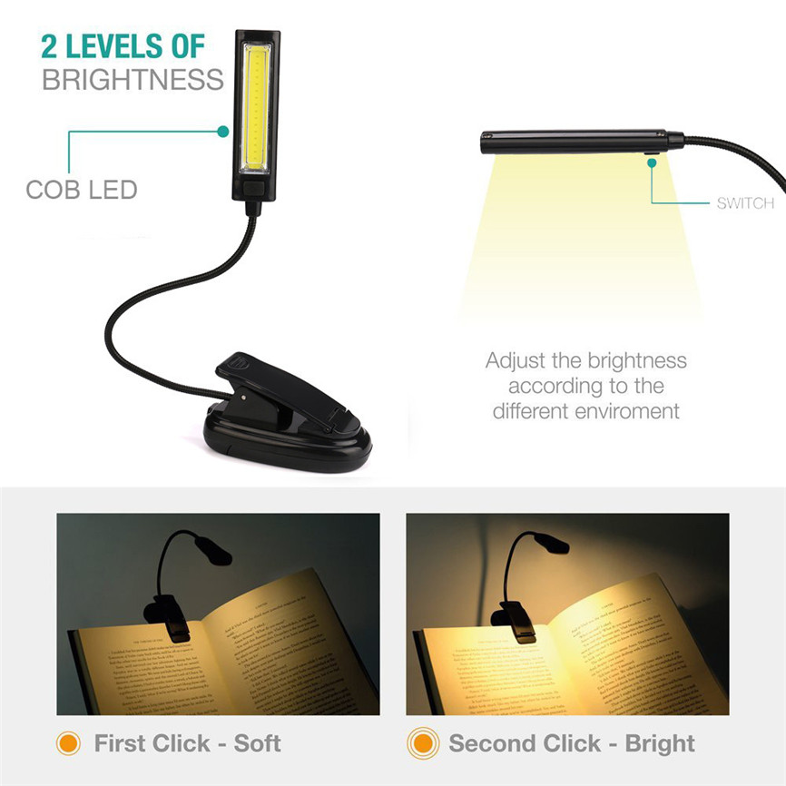 Flexible USB Fashion LED Light Clip-on Bed Table Desk Study Reading Lamp Top NEW