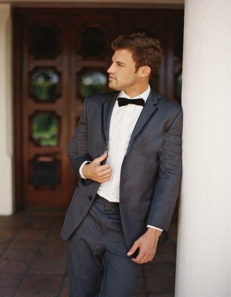 2018 Mode stil Grau Frack Bester Männer Anzug Slim Fit Hochzeit ...