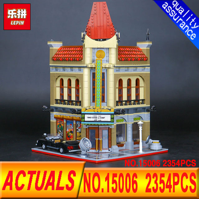 LEPIN 15006 Department of class 2354pcs Palace Cinema Model Building Blocks Set Bricks Toys Compatible 10232 Toys For Children гардеробная in the department of
