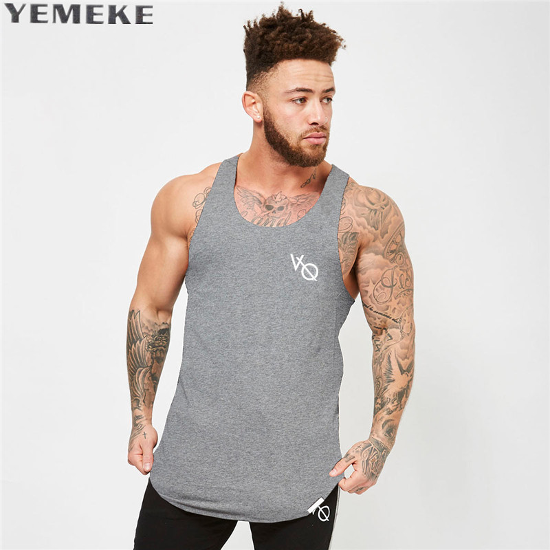 YEMEKE 2017 New Men Gyms   Tank     Top   Bodybuilding Sleeveless Brand Casual Shirts men's Hot Selling Cultivate One's Morality vest