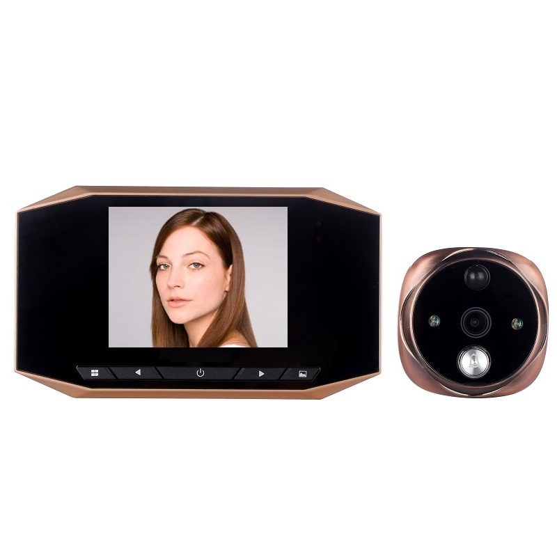 Peephole camera doorbell digital door viewer 3.5 inch LCD Motion Sensor 4X Zoom IR Night Vision Photos Take Video Record Max 32GPeephole camera doorbell digital door viewer 3.5 inch LCD Motion Sensor 4X Zoom IR Night Vision Photos Take Video Record Max 32G