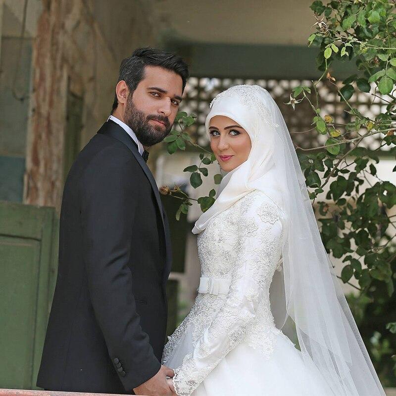 Vestidos De Noiva Saudi Arabia Muslim Wedding Dresses Long Sleeves Lique Lace Modest Bridal 2017 In From Weddings Events On