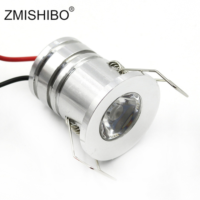 ZMISHIBO IP44 Waterproof מיני 3 W ספוט LED Downlight כסוף 110 V-220 V תקרת חדר אמבטיה שקוע 27mm חיצוני הוכחת מרפסת מנורה