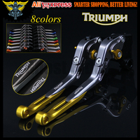 8 Colors CNC Adjustable Motorcycle Brake Clutch Levers For Triumph 675 STREET TRIPLE 2008 2009 2010