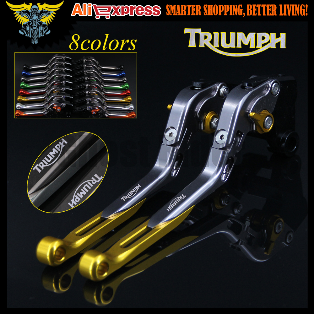 8 Colors CNC Adjustable Motorcycle Brake Clutch Levers For Triumph 675 STREET TRIPLE 2008 2009 2010 2011 2012 2013 2014 2015 new cnc billet clutch cover outside for ktm 250 xcf w 2008 2009 2010 2011 2012 2013