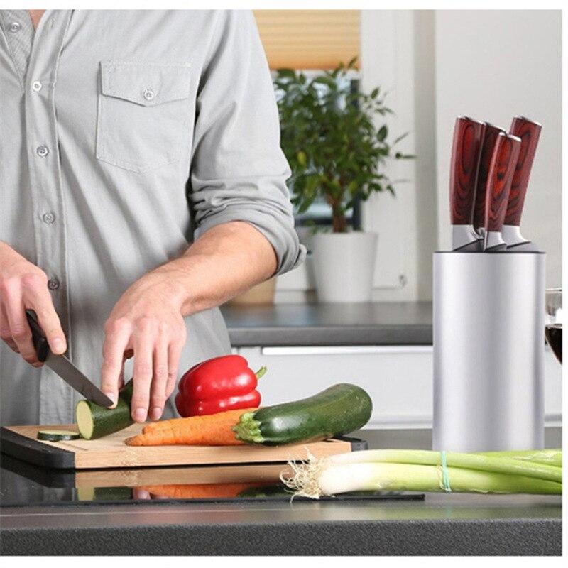 1pcs 23*11.5*11.5cm block knife stand Universal Stainless Steel Knife Holder knife