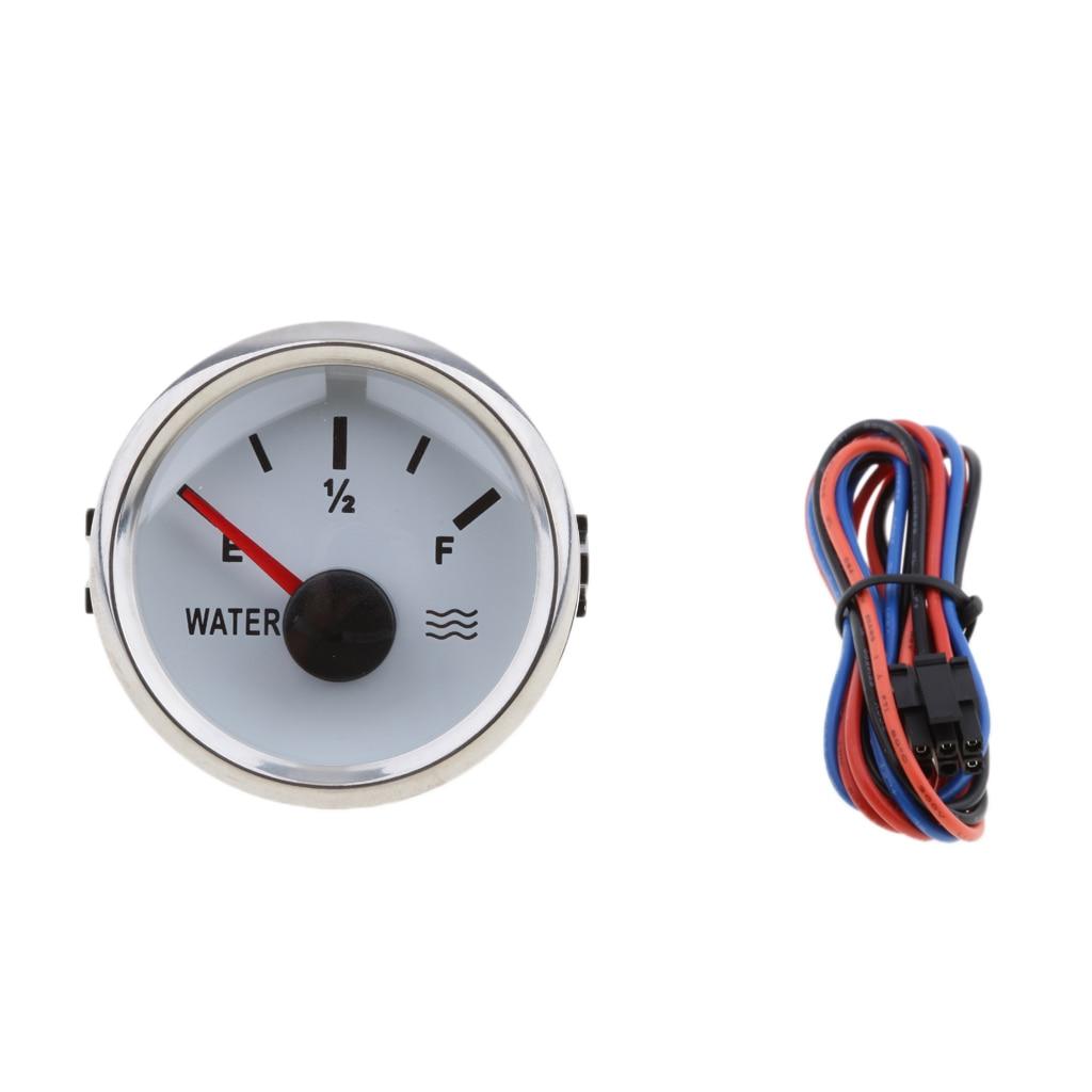 Replacement Fuel & Liquid Level Gauge Sensor + 52mm (2'') Water Level Indicator Gauge Meter Kit 12 Volt