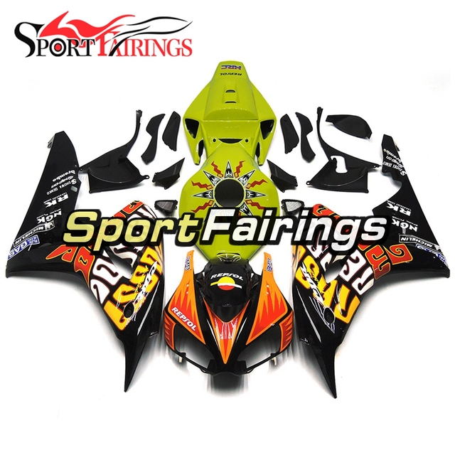 Green Black Orange Full Fairings For Honda CBR1000RR Year 2006 2007  cbr1000 06 07 ABS Motorcycle Fairing Kit Bodywork Cowlings