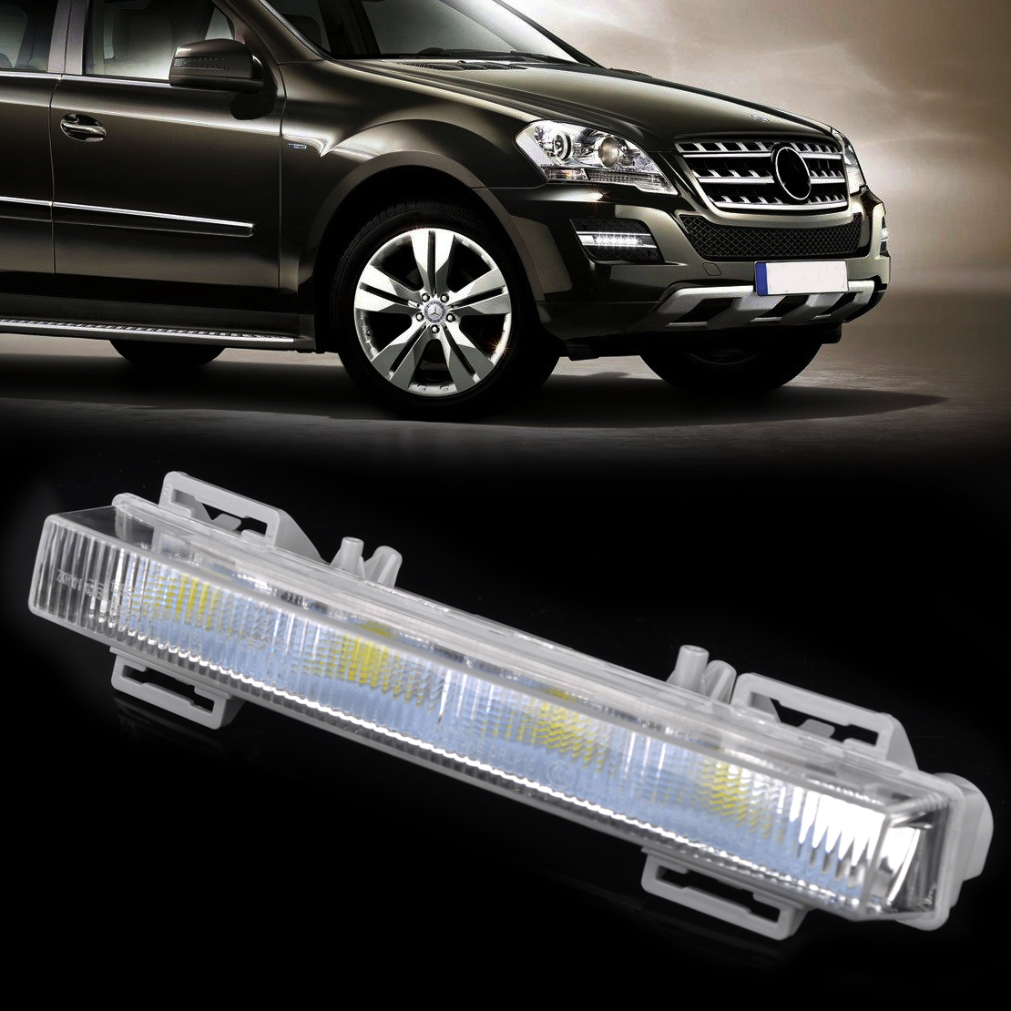 цены  CITALL Front Right LED Daytime Running Light Driving Lamp 2049065501 for Mercedes Benz W166 ML350 ML500 ML550 X204 GLK250 GLK350