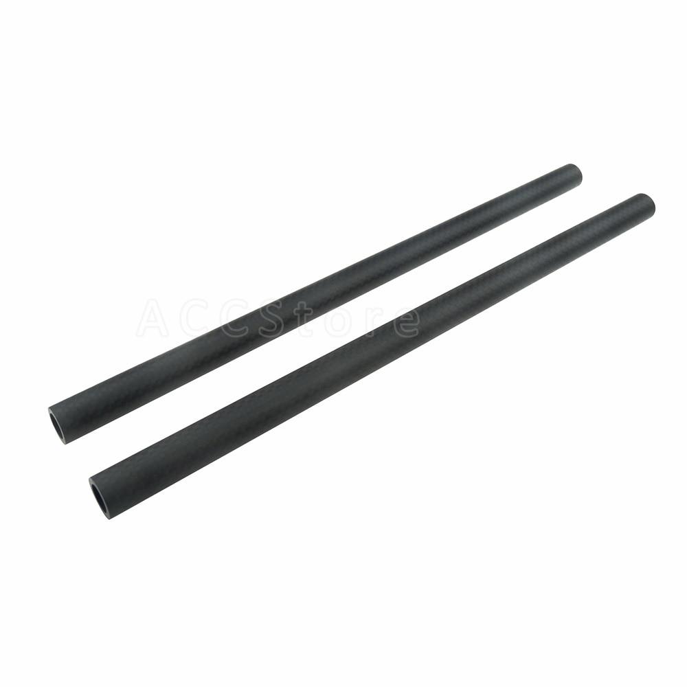 2PCS  15mm Carbon Fiber Rods 30cm / 11.8inch Long for DSLR Camera Rig 15mm Rods System Camera Rail Rods – 207