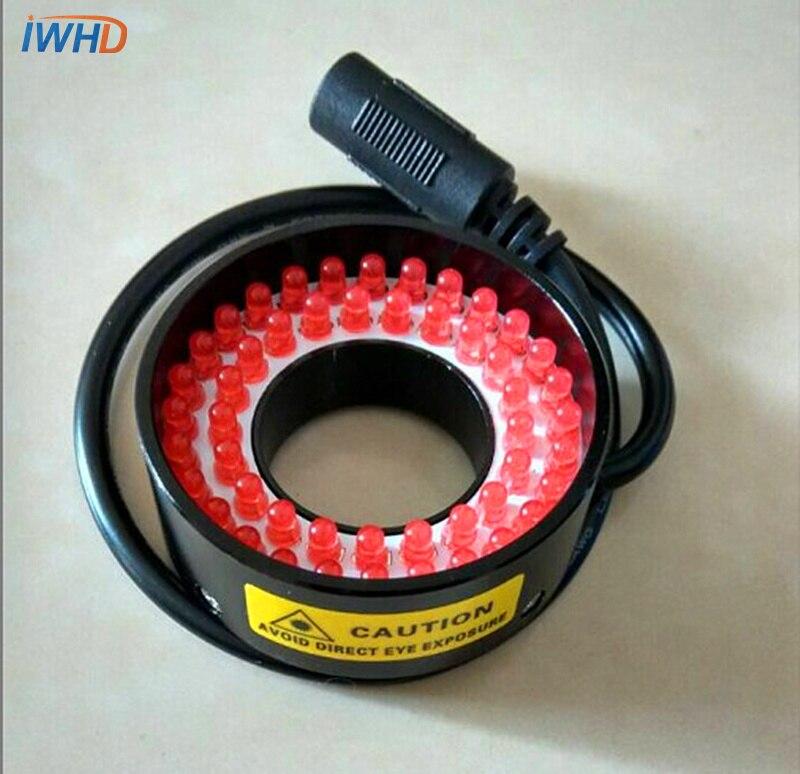 Microscope red light source, instrument ring LED industrial diameter 25mm brightness adjustable