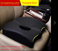 Seat Cushion Pad Black Coccyx Orthopedic Seat Cushion Lumbar Support Comfort Memory Foam Pad For Chair Car Office Home Hot