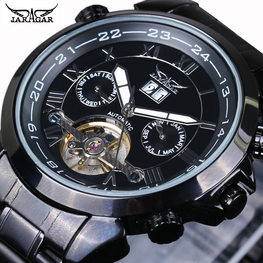 New Military JARAGAR Brand Automatic Self-wind Relogio Masculino Watches Mechanical Fashion Luxury Men Watch Tourbillon ClockNew Military JARAGAR Brand Automatic Self-wind Relogio Masculino Watches Mechanical Fashion Luxury Men Watch Tourbillon Clock