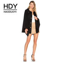 HDY Haoduoyi Brand 2017 Christmas New In Solid Black Women Jackets Turn down Collar Single Breast Female Down Jacket Women