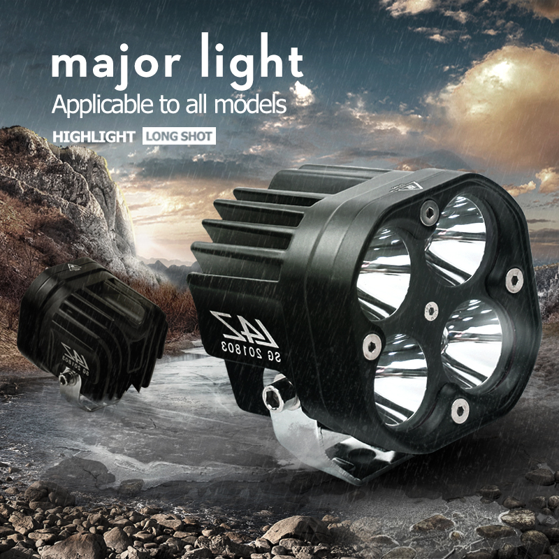 Aluminum 60W LED Spot Light Spotlight Assist Lamp Universal Motorcycle Headlight Daylight Spot Light HeadLamp Decorative Lamp-in Light Bar/Work Light from Automobiles & Motorcycles