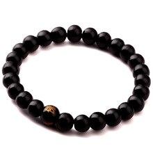 LKO Wood Beads Rappers Jewelry Bracelet