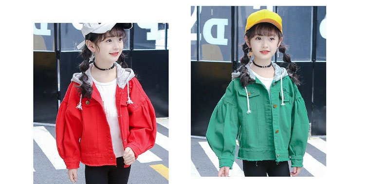 sports outwears coats for big girls clothing long sleeve red green hooded patchwork tops kids jackets active baby girl clothes (18)