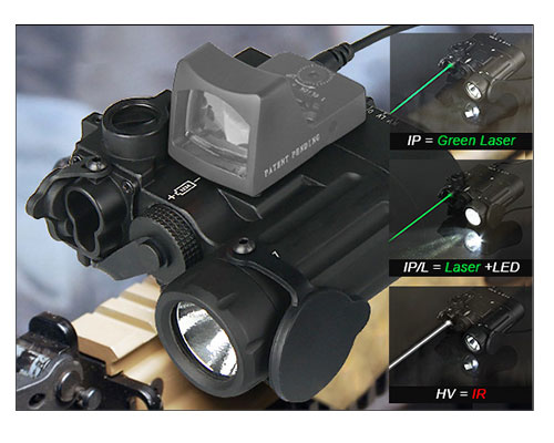 DBAL-D2 dual beam Led light flashlight with Red Laser IR laser aim of LED illuminator Class 1 for hunting rifle hot sale and new arrival tactical dbal pl led ir red laser for hunting bwl 012