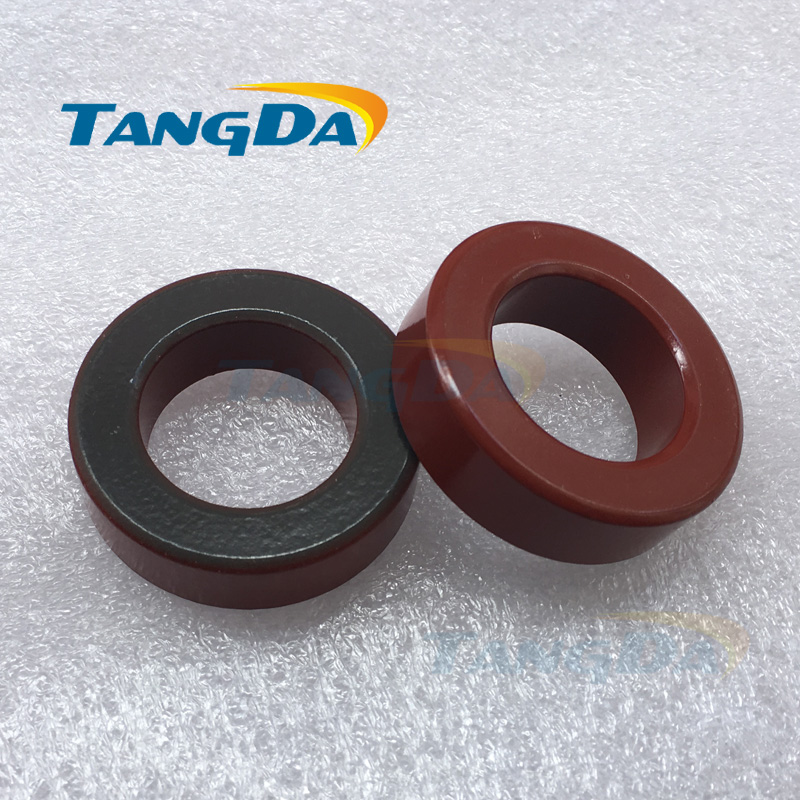 Tangda T200 Iron powder cores T200-2 OD*ID*HT 51*31*14.5 mm 12nH/N2 10uo Iron dust core Ferrite Toroid Core Coating Red gray AG