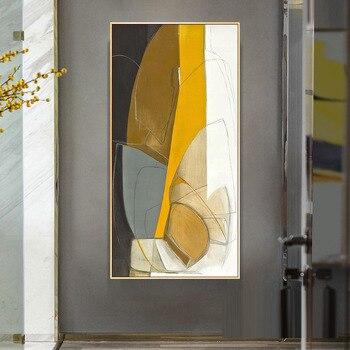 Emecamail pintura abstracta de diamante para entrada al porche, bordado de diamantes para sala de estar moderna, arte Vertical 5D para decoración del hogar