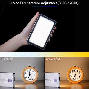 Image 2 - Máy ảnh DSLR Siêu Mỏng Mờ ĐÈN LED Video 96 Chiếc CRI96 MÀN HÌNH Hiển Thị OLED với Pin Trên Máy Ảnh DSLR Chụp Ảnh Chiếu Sáng Lấp Đầy Ánh Sáng