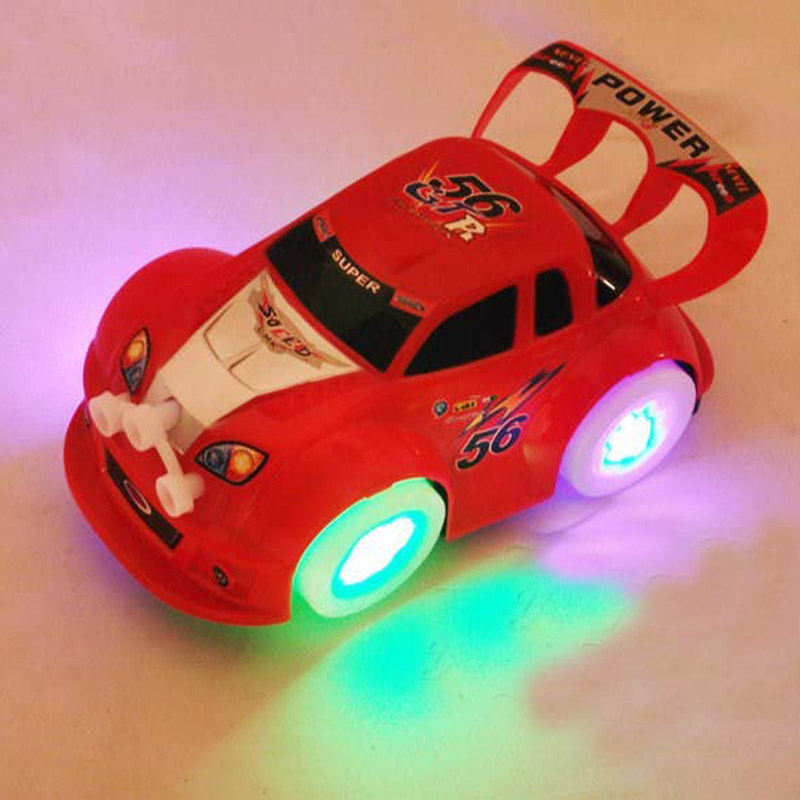 Hot wheels Coches juguetes con luz led cardán rueda de Coche de la Música de jug