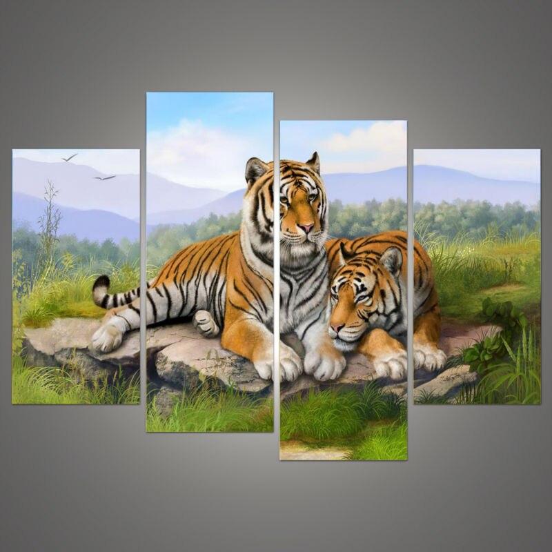 Nové modulární obrázky Pop Art Hot Prodáváme modulární obrazy Psí přímořská krajina modulární obrazy na plátně Ručně malovaný modul Lovely Animal